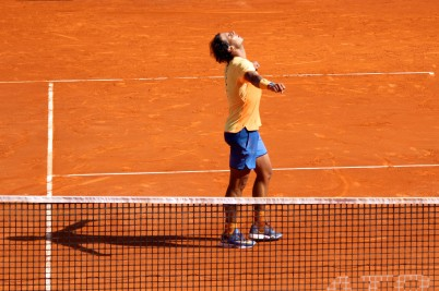 Rafael Nadal after defeating Andy Murray in the semis @CelinaLafuenteDeLavotha